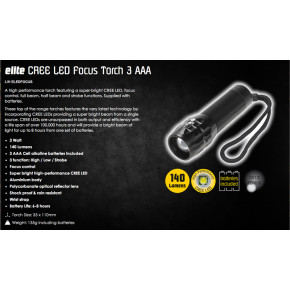 Lighthouse Elite Focus CREE LED Torch/Tac-light