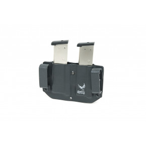 Phoenix Tactical Kydex Single Stack Twin Pistol Magazine Holster - Black