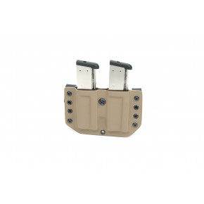 Phoenix Tactical Kydex Single Stack Twin Pistol Magazine Holster - Coyote Brown
