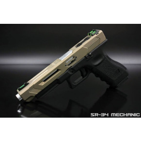 SR Union SR-34 Mechanic Pistol with Hard Case - Tan