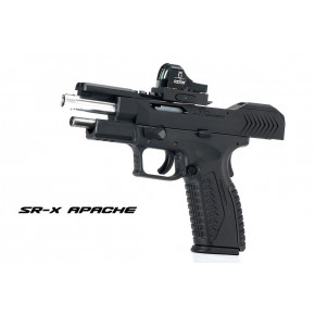 SR Union SR-X Apache Pistol with Hard Case - Black