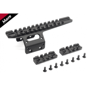 Action Army 20mm Front Rail Set for AAC T10 Rifle -Black