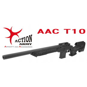 Action Army AAC T10 Airsoft Sniper Rifle - Black