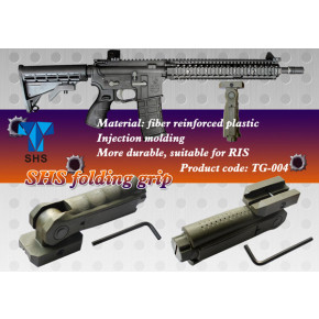 SHS RIS Mounted Folding Grip with Pressure Switch Slot