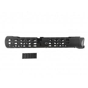 TWI VS-25 AK Keymod Short Tubular Aluminum HandGuard for AK105 - Black