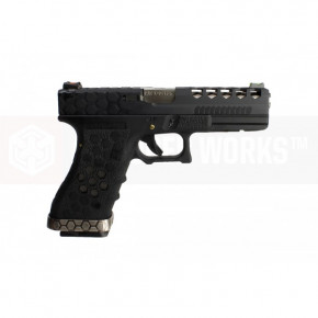 Armorer Works VX Series Custom Hex-Cut Airsoft Pistol - VX0101 Black