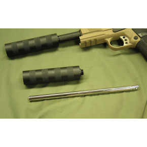 WE Pistol barrel extender and suppressor