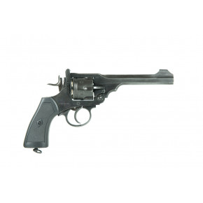 Webley Mk VI CO2 Airsoft Revolver - Battlefield Finish with Full Trades and NO SAFETY!
