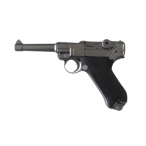 WE Luger P08 4-Inch GBB Pistol - Stainless / Silver