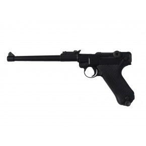 WE Luger P08 8-Inch GBB Pistol - Black