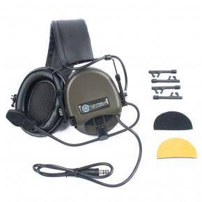 WADSN TEA Release New Hi - Threat Tier 1 Basic Version Headset - Olive Drab