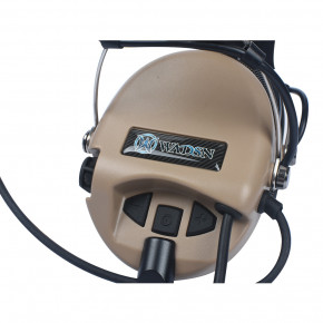 WADSN Sordin Headset Basic Version - Dark Earth