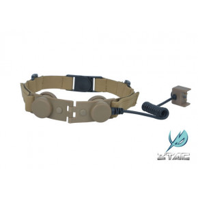 Z Tactical Bowman Tactical throat mike adaptor - Tan