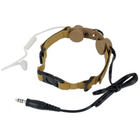 Z Tactical Tactical throat mike with integrated ear piece - Dark Earth