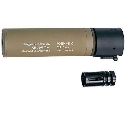 B&T ROTEX III Compact quick detach suppressor - Tan 160mm