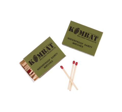 Kombat UK Waterproof Safety Matches - 4 Pack