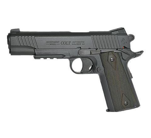 KWC 1911 Government Model CO2 NBB Airsoft Pistol ! (Colt 1911 Rail Gun) - Black Model