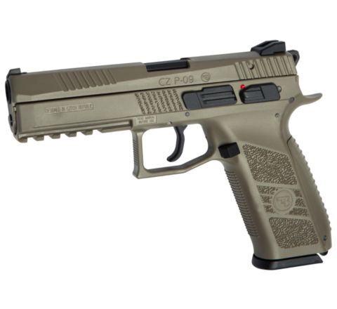 ASG Branded KJ Works CZ P-09 GBB Pistol - Full Dark Earth