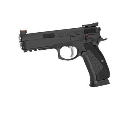 ASG Branded KJ Works CZ 75 SP-01 Shadow ACCU GBB Airsoft Pistol - Black