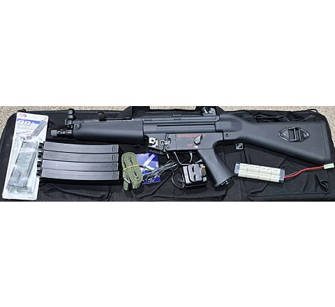 G&G PM5 A4 Airsoft SMG - Starter Kit
