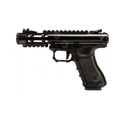 WE Airsoft Galaxy Semi/Full Auto Airsoft Pistol - Black