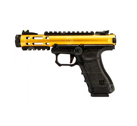 WE Airsoft Galaxy Semi/Full Auto Airsoft Pistol - Gold