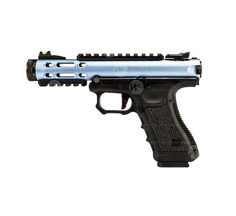WE Airsoft Galaxy Semi/Full Auto Airsoft Pistol - Blue