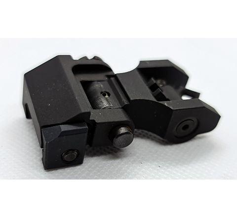 Troy Industries Styled Folding Rear Sight - Diamond / Open Diamond Aperture