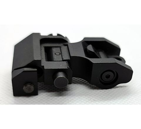 Troy Industries Styled Folding Rear Sight - Circular / Pin Hole Aperture