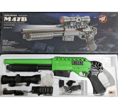 Double Eagle M47B Pistol Grip Shotgun (M47B2) - BONEYARD Two-Tone