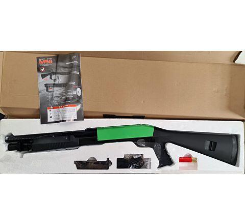 Double Eagle M56 STYLE FULL STOCK AIRSOFT SHOTGUN - Two-TONE - BONEYARD