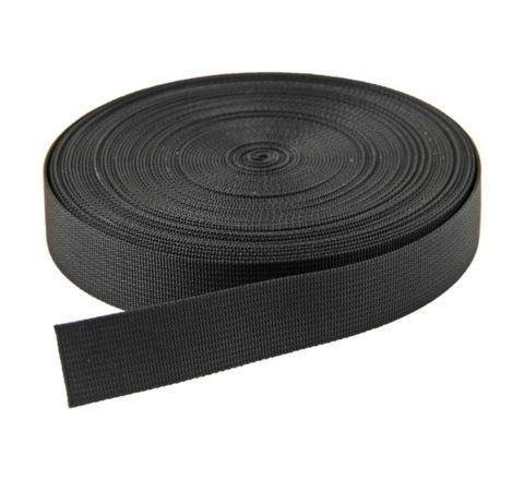 25mm Black nylon webbing - 1 Metre