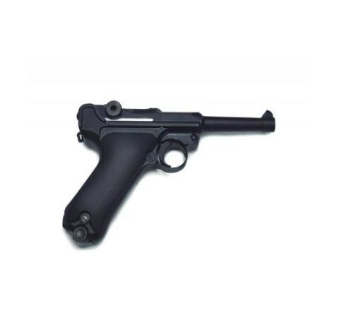 WE Airsoft Luger P08 4-Inch GBB Pistol - Black