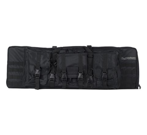 "Valken V Tactical 46"" Double Rifle Gun Case / Gun Bag - Black"