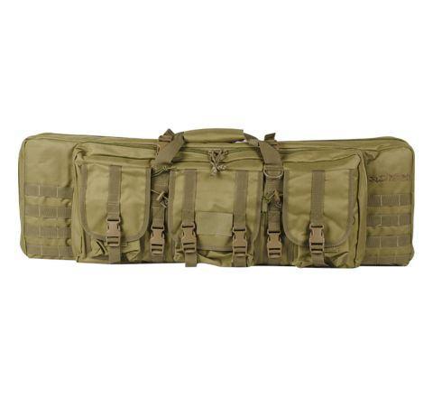 """Valken V Tactical 42"""" Double Rifle Gun Case / Gun Bag - Tan"""