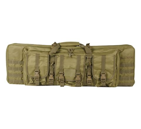 "Valken V Tactical 42"" Double Rifle Gun Case / Gun Bag - Tan"