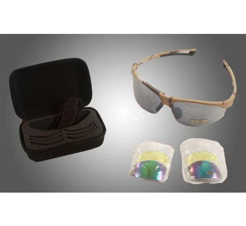 CoverT Pro 724 Ballistic Glasses - Deluxe Set - Desert Camo