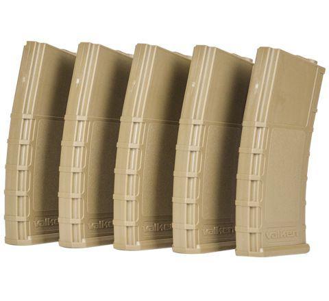 Valken RMag 140rd M4 Mid-Cap (Tan) Magazines - 5/Pack