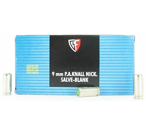 9mm P.A.K. Auto Brass Blanks by Fiocchi (Pack of 50)