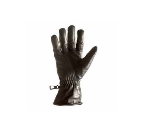 Pattern 95 Leather glove in Black - SMALL
