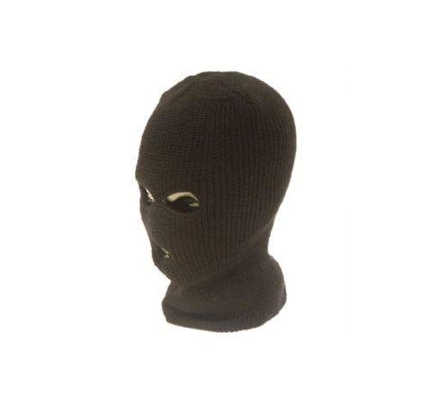3-hole acrylic balaclava - BLACK
