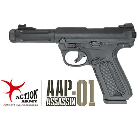 Action Army AAP-01 Assassin GBB Airsoft Pistol - Black