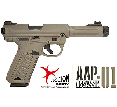 Action Army AAP-01 Assassin GBB Airsoft Pistol - FDE