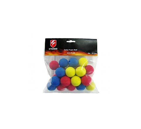 S-Thunder 33mm Foam Balls - 24 Balls