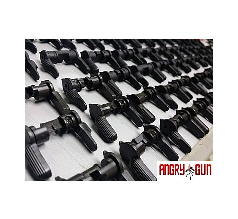 Angry Gun CNC Steel Ambidextrous Selector for the WE M4 GBB Rifle