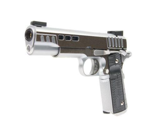 Ascend Airsoft KP1911 CUSTOM GBB Airsoft Pistol - Dual-Tone Silver