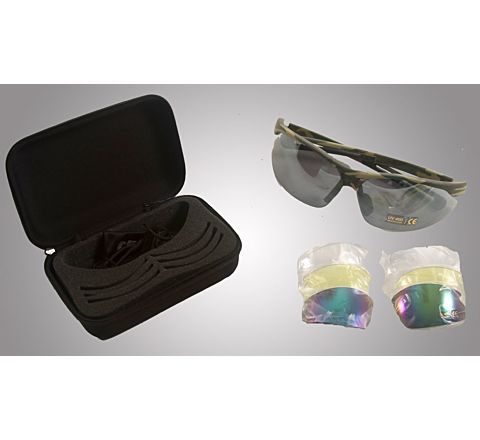 CoverT Pro 724 Ballistic Glasses - Deluxe Set - Green Camo