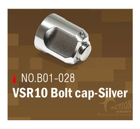Action Army Bolt Cap for VSR Series Rifles - SILVER