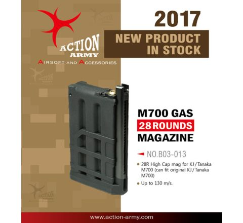 Action Army 28rd KJ & Tanaka M700 Gas extended mag