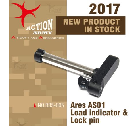 Action Army ARES Striker AS01 Rifle Load Indicator and Lock Pin - CNC Aluminium/Steel